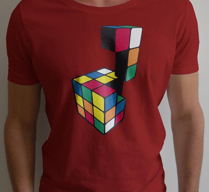 8909d05e32ab Puzzle Cube Shirt 80s retro puzzle design for nerds of the