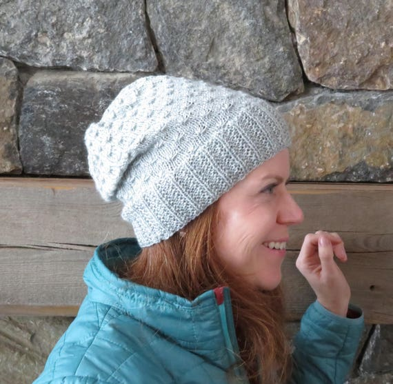 Knitting Pattern Slouch Hat Knitting Pattern Slouchy Hat Etsy