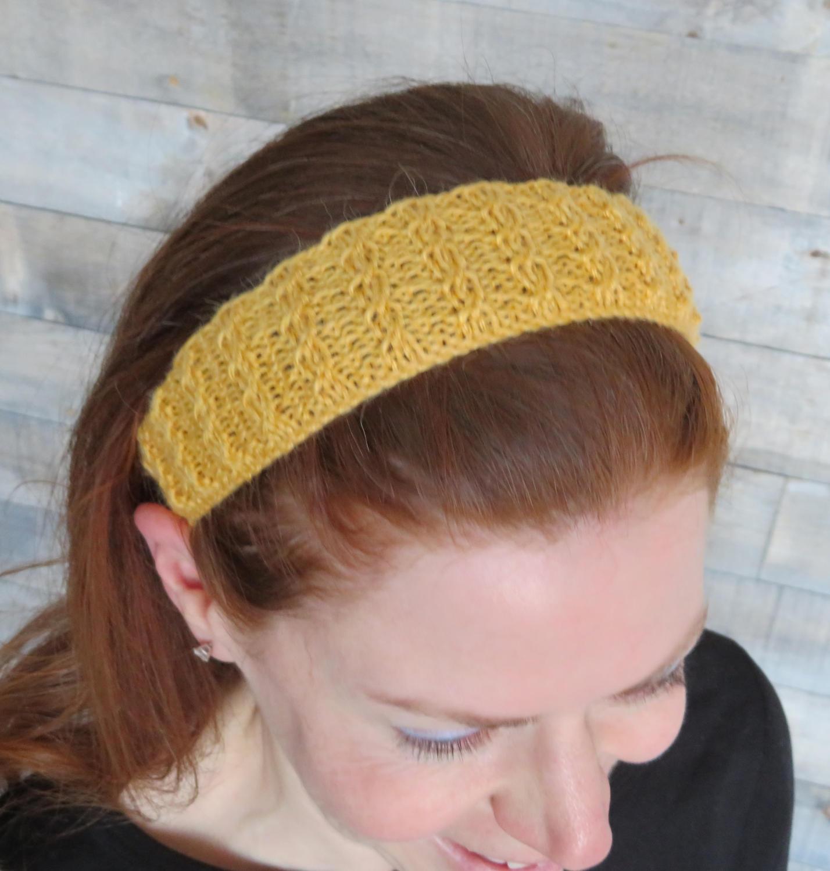 Double Twist Headband Knitting Pattern / easy knitting pattern ...