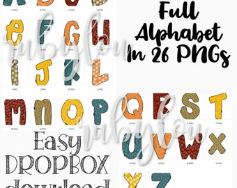 Doodle Letters Buffalo Plaid Alphabet SVG BUNDLE digital | Etsy