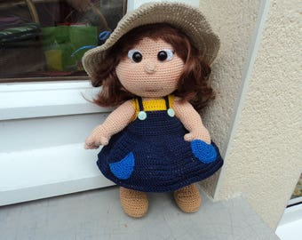 "Lola ""peasant"", a cute crocheted doll"