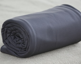 Fleece-Back Polyester Spandex, Dark Shadow – 1/2 Meter