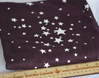 Starlight, Brushed Poly On PLUM– 1/2 meter