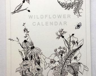 British Wildflowers Perpetual Calendar // A4 Birthdays and Anniversaries Calendar // Illustrated Flower Calendar