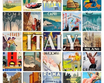 NEW! Italy Posters Postcard Blank On The Back Ideal For Wedding Guestbook. 25 Designs ~ Designed & Printed By Cherished Postcards