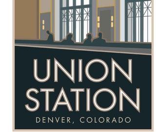 Union station print | Etsy