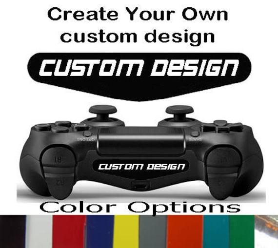 Playstation 4 ps4 controller custom logo design light bar etsy image 0 aloadofball Choice Image
