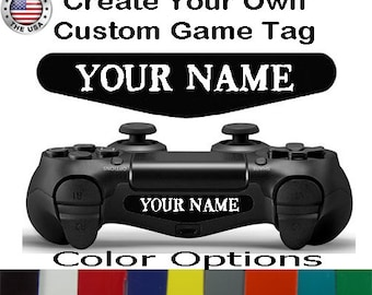Personalized Playstation 4 Ps4 Controller Custom Gamer Tag Text Light Bar Decal Sticker Personalization PS4