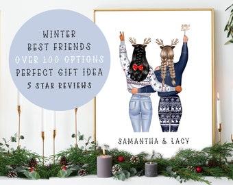 Quick Turnaround | PRINT @ HOME | Custom Digital Printable Christmas Friends Poster | Merry Christmas | Christmas Poster | Christmas Gift!