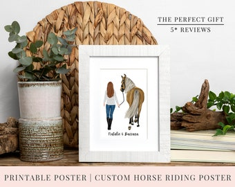 Christmas Gift | PRINT @ HOME | Personalised Printable Horse Poster | 3 Sizes |  Horse | Customise Poster | Print at Home