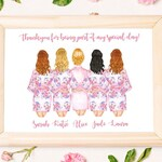 Personalised Digital Printable Bridesmaid Poster  / Card | 3 Sizes | Will you be my Bridesmaid? Thank you for being my Bridesmaid!