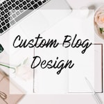 CUSTOM BLOGGER DESIGN - Bespoke blog design made to order! | Fully Custom | 5* Reviews!