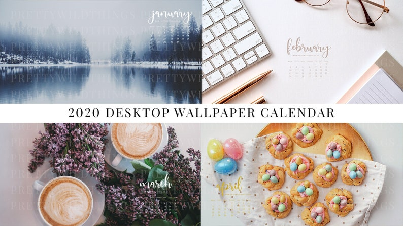 2020 DESKTOP WALLPAPER CALENDAR  12 wallpapers  digital image 0