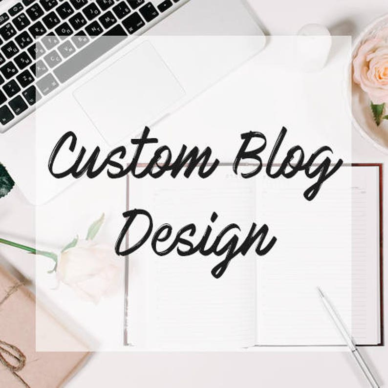 CUSTOM BLOGGER DESIGN  Bespoke blog design made to order  image 0