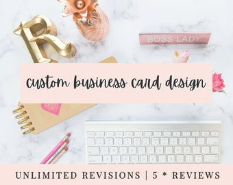Business Card Design | CUSTOM MADE | Bespoke Busines Card Design | ooak Business Card | Add your own details!