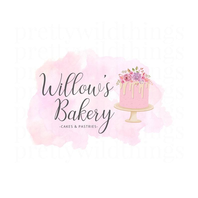 Premade Cake Logo / Bakery Logo / Cafe Logo / Cake Making Logo image 0