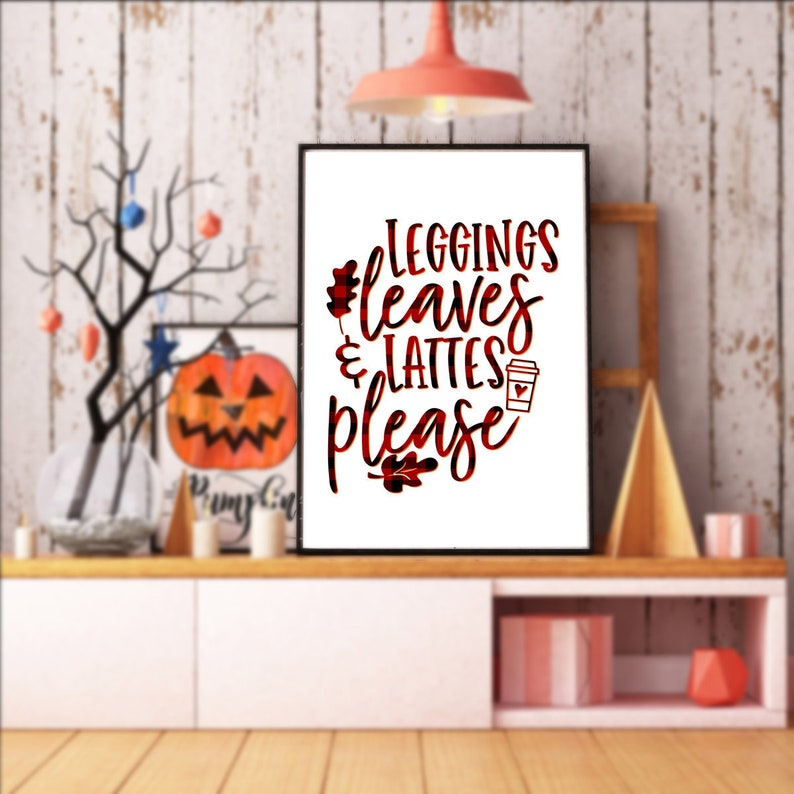 A4 Printable Autumn Fall Poster  2 Versions : Colour and image 0