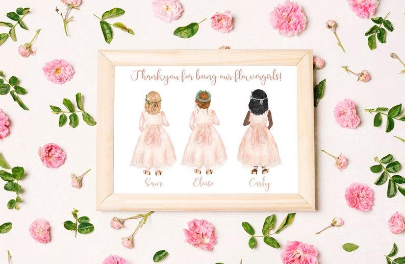 Personalised Digital Printable Flower Girl Poster  / Card  3 image 0