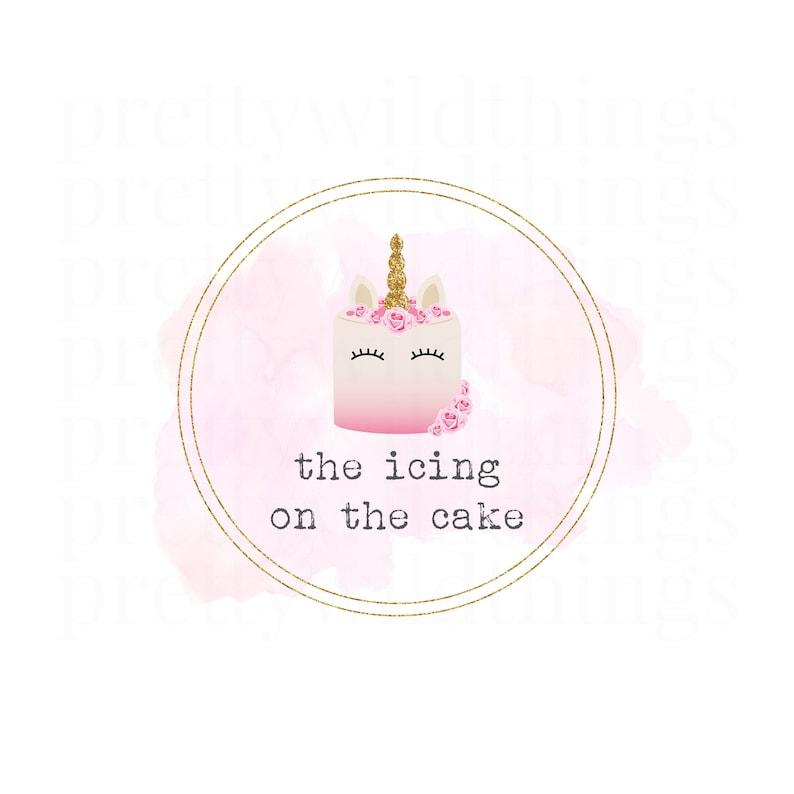 Premade Unicorn Logo / Bakery Logo / Cafe Logo / Baking Logo / image 0