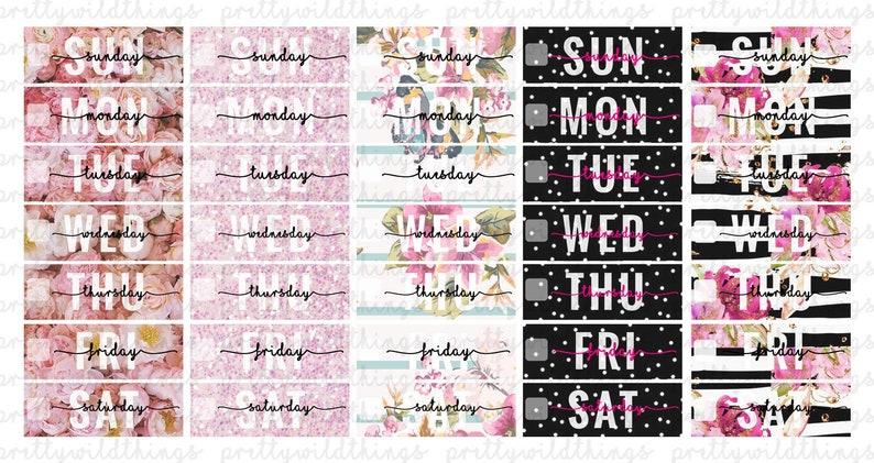 14 Weeks E.C PRINTABLE Date Header Planner Stickers  Erin image 0