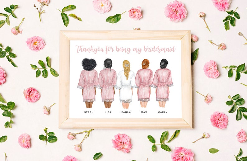 Personalised Digital Printable Bridesmaid Poster  / Card  3 image 0