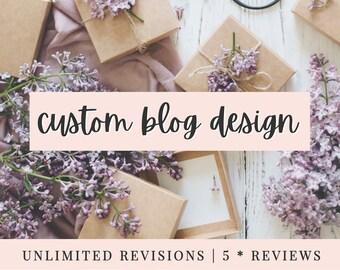 CUSTOM BLOGGER DESIGN - Bespoke blog design made to order! | Fully Custom | 5* Reviews!
