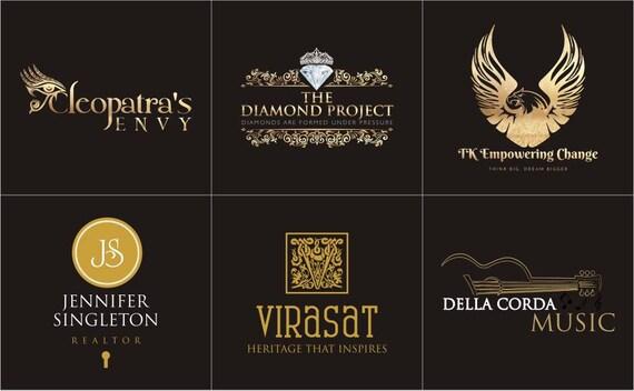 Professional Logo Design, Gold Logo, Custom Logo Design, Logo Design, Logo, 3 Concepts, Sophisticated Logo, Ooak Logo, Unique Logo, Best Log