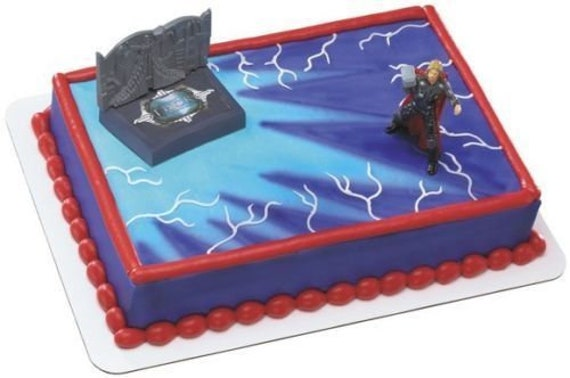Excellent 3D Cake Decorating Kit Thor Avengers Acton Figure Decopac Etsy Personalised Birthday Cards Paralily Jamesorg