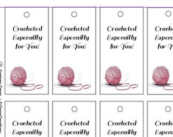 Crochet Gift Tags Printables PDF - Instant Download