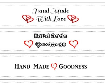 Handmade Especially for You Gift Tags Labels PDF Instant Download Printables