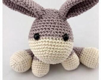 PDF Crochet Pattern English Emma Donkey Amigurumi