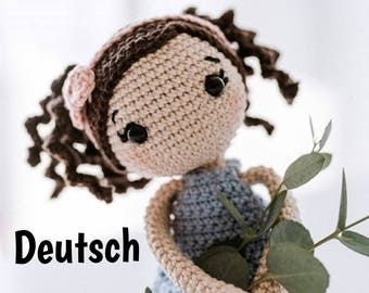 PDF Crochet Pattern Doll Lina GERMAN Amigurumi haekelnundkuscheln