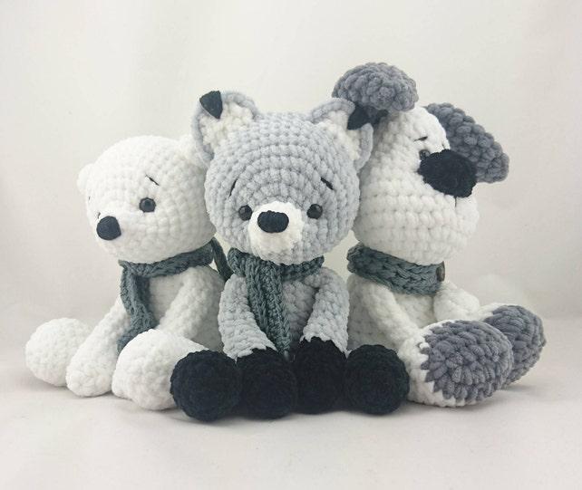 5 x PDF ENGLISH Crochet Pattern: Teddy Bear Micha Fox Foxi | Etsy