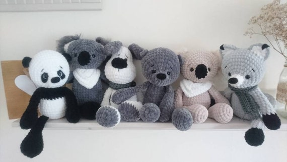 5 X Pdf Deutsch Häkel Anleitung Fuchs Teddy Koala Hund Etsy