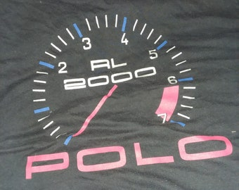 436e3242c0b vtg polo ralph lauren rl 2000 speedometer t shirt m nyc rlpc p wing casino  stadium games rap