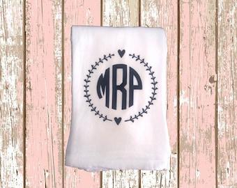 Personalized Flour Sack Kitchen Towel