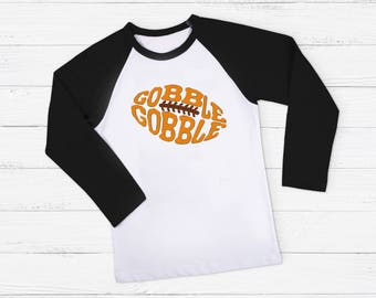 Gobble Football Raglan Shirt