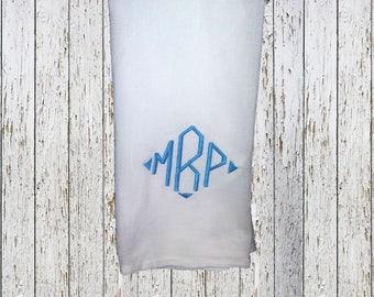 Embroidered Kitchen monogrammed flour sack towel