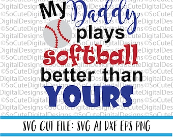 Thats My Husband Svg Softball Baseball Svg Husband Etsy