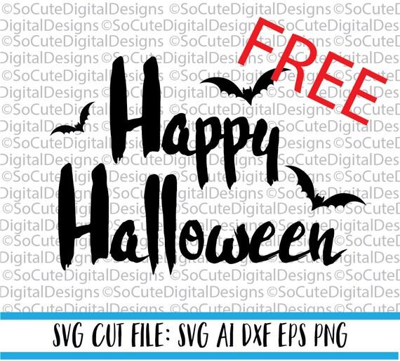 Free October Svg Download Link Happy Halloween Svg File Etsy