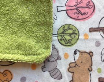 Baby Burp Cloth - Woodland Animals