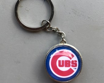 Chicago Cubs Key Chain,Or your team, double sided
