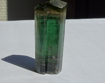 Tourmaline 7.62 gram Green Pink Crystal , Tanzania