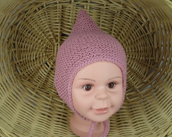 a33cc0cba02 Baby cap with double bommel baby full cap winter cap knitted