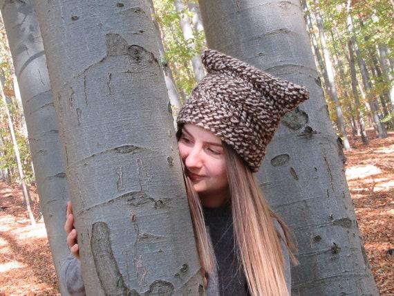 Women s cap girl s hat brown-beige cap knitted cap  6f26a6622813