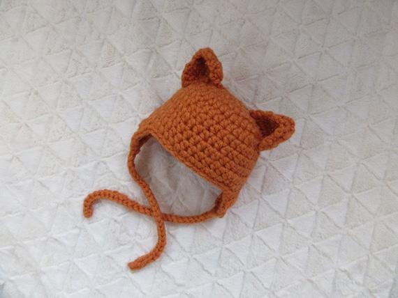 Baby Mütze Fuchs Baby Tier 3d Ohren Mütze Gehäkelt Baby Etsy