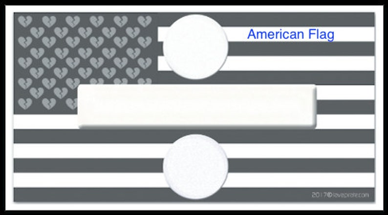 American Flag Custom Design Divided Country B&W Vinyl Sticker image 0