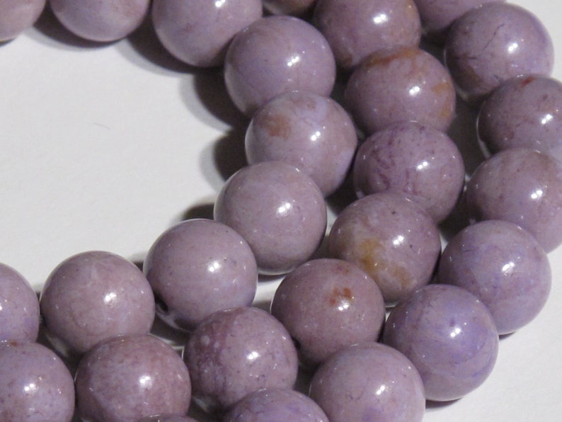 SALE Large 10.5 mm Round  Purple Jade Beads Item 226 Natural Stone Beads Natural Turkish Purple Jade Round