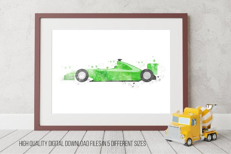 Kinderzimmer Auto Rennen-Auto-Dekor Auto bedruckbar | Etsy