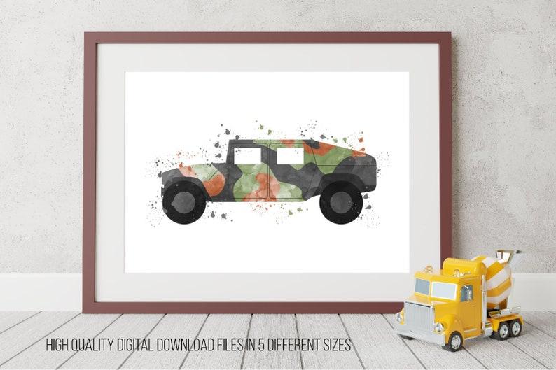 Art LarméeEtsy De Mural Militaire Impression Voiture lK3u51cTFJ